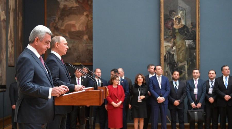 Владимир Путин и Серж Саргсян дали старт Дням культуры Армении в России