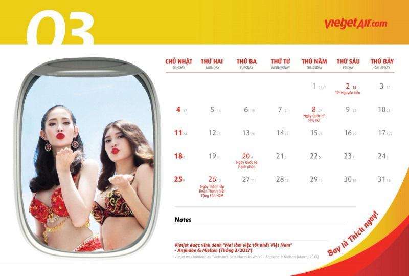 Стюардессы в бикини в календаре авиакомпании VietJet