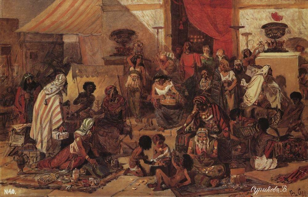 Изгнание Христом торгующих из храма. 1873.jpg