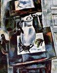 Иван Пуни «Натюрморт с белым кувшином» 1910 г. Холст, масло. 89 x 71 см.