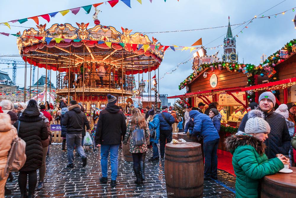Рождественская ярмарка на Красной площади