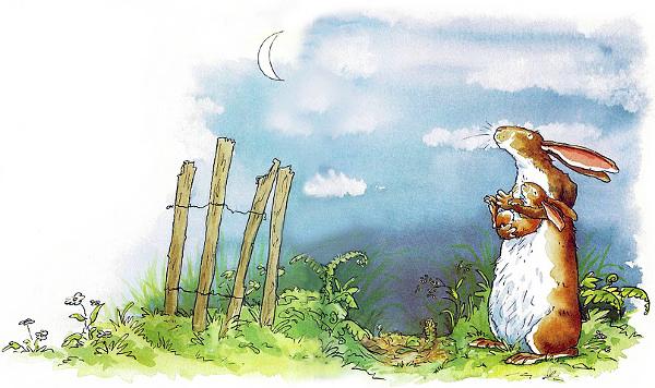 «Вот как я тебя люблю» – перевод сказки в стихотворной форме:    Маленький зайч
