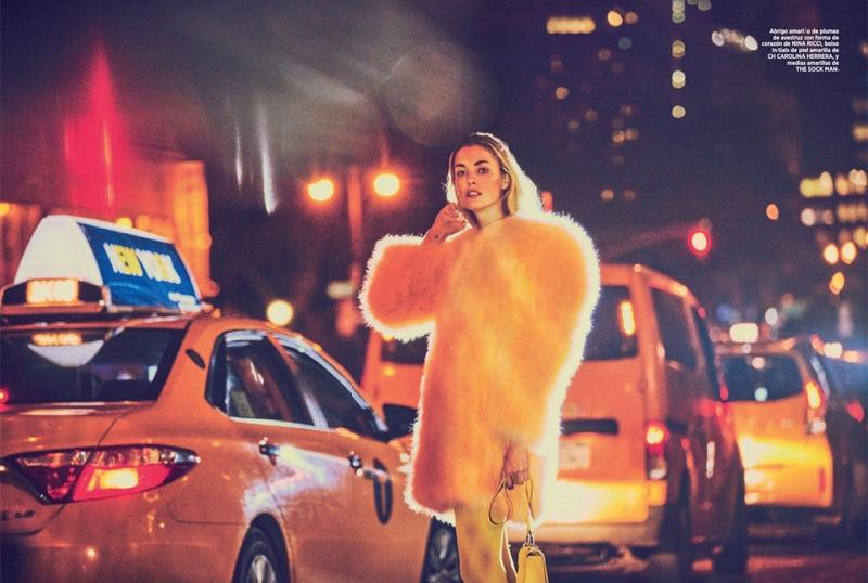 Надя Бендер на обложке Harper's Bazaar