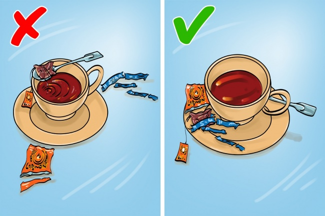 7. Намазываем масло изобщей тарелки    Считается вежливым сначала положить нем