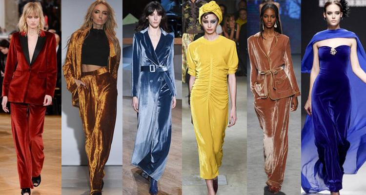 Модные бархатные модели одежды