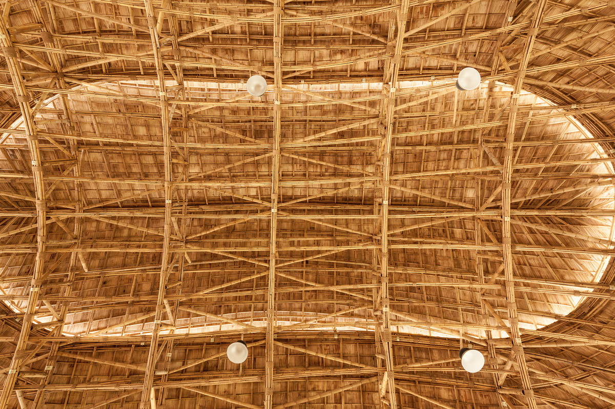 A Bamboo Recreation Facility Inspired by the Lotus Flower Blooms in Thailand