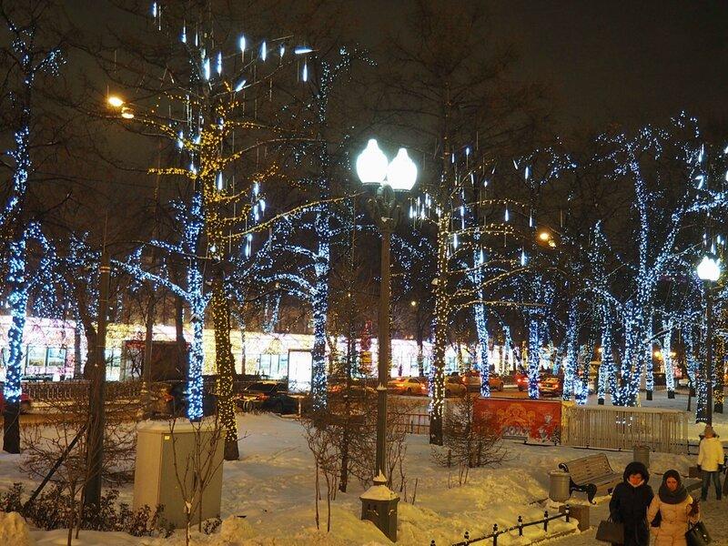 Москва, новогодняя Пушкинская площадь (Moscow, New Year's Pushkin Square)