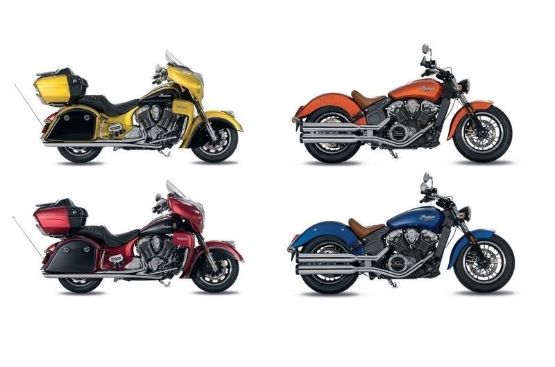 Дополнительные расцветки мотоциклов Indian Scout / Roadmaster