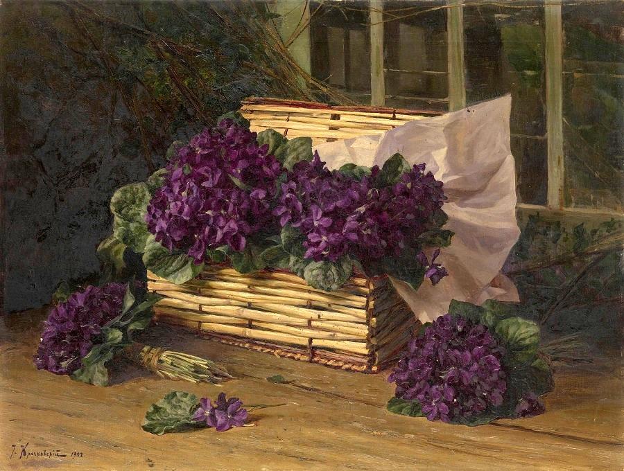 Still Life with Violets , 1902.