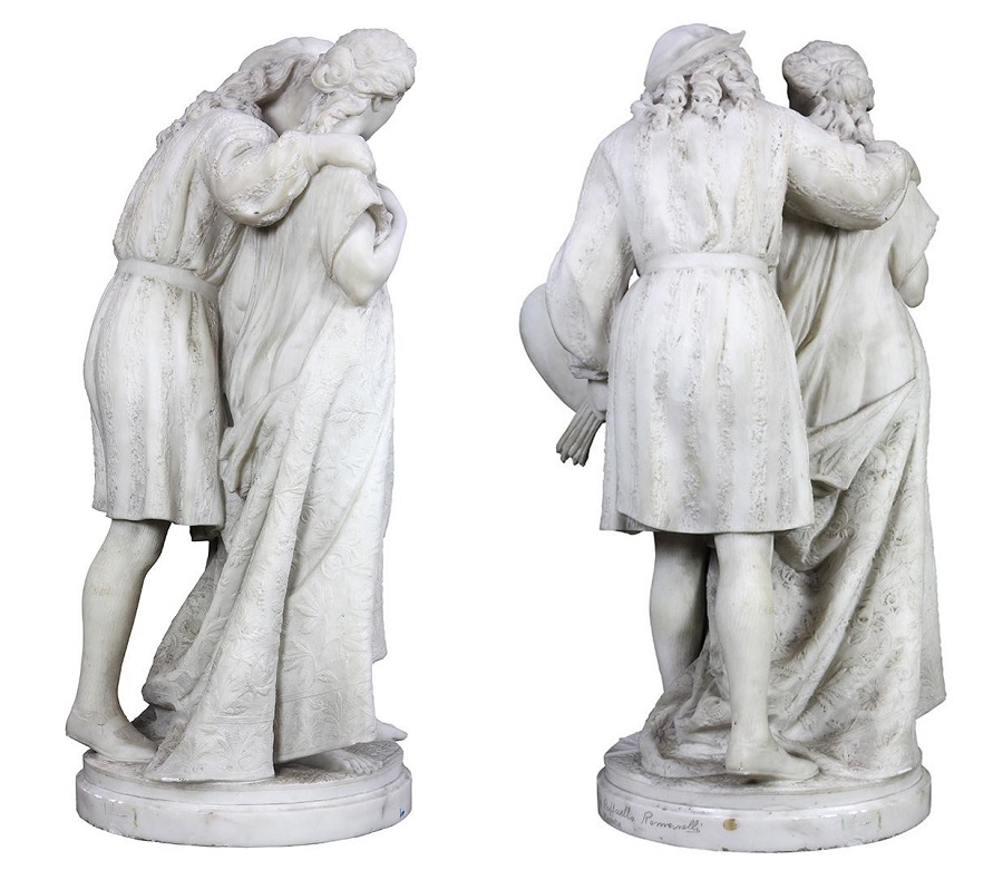 Raffaello and Fornarnina , circa 1895.