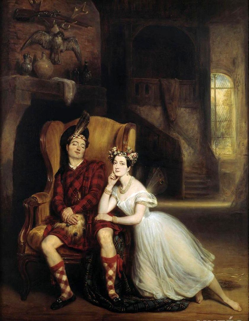 Мари (1804-84) и Пол Таглиони (1808-84) в балете Сильфида, 1832 г.