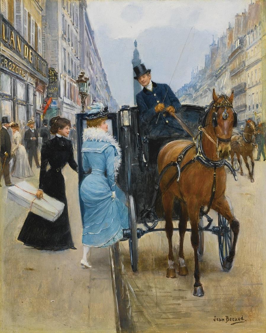 Jean Béraud1849 - 1935 FRENCHCOURSES RUE DE LA PAIX