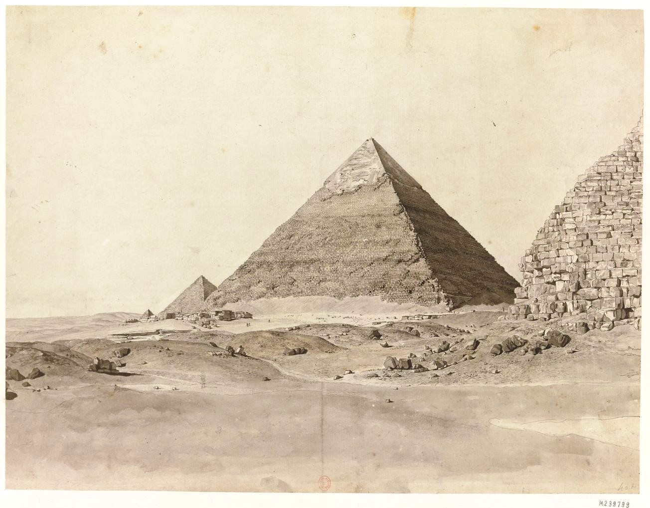 Пирамиды Гизы. Вид пирамиды Хефрена с востока