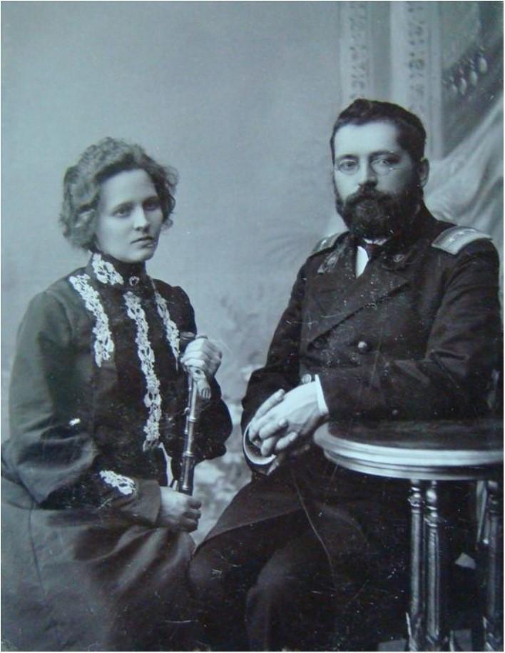 1906. Портрет К. Хрипова и А. Хриповой. 10 декабря