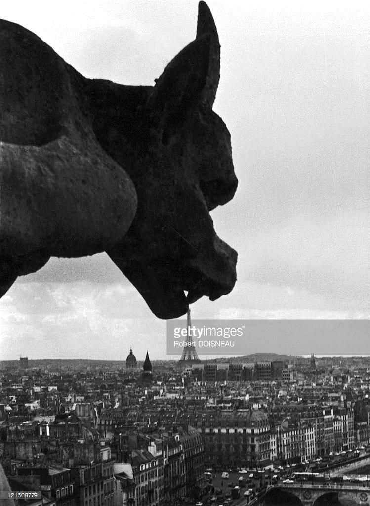 1949. Горгулья собора Нотр-Дам