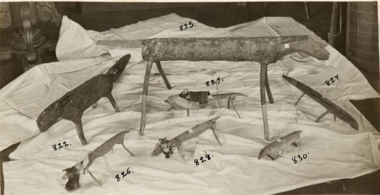 Деревянные резные жертвенные животные, Васюган
