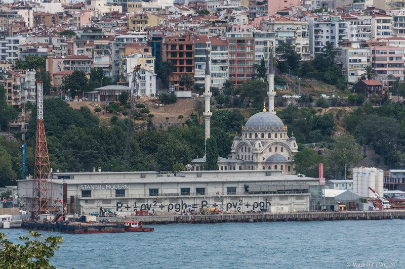 Дворец Топкапы в Стамбуле. Вид на Золотой Рог, Стамбульский музей Современного искусства с террасы султана.