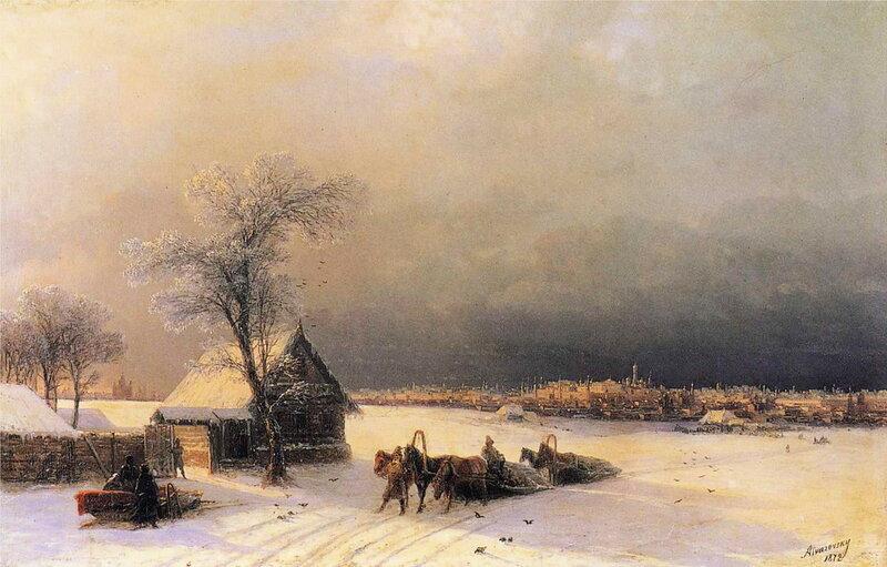 Москва зимой. Вид с Воробьевых гор 1872г 46х72см.jpg