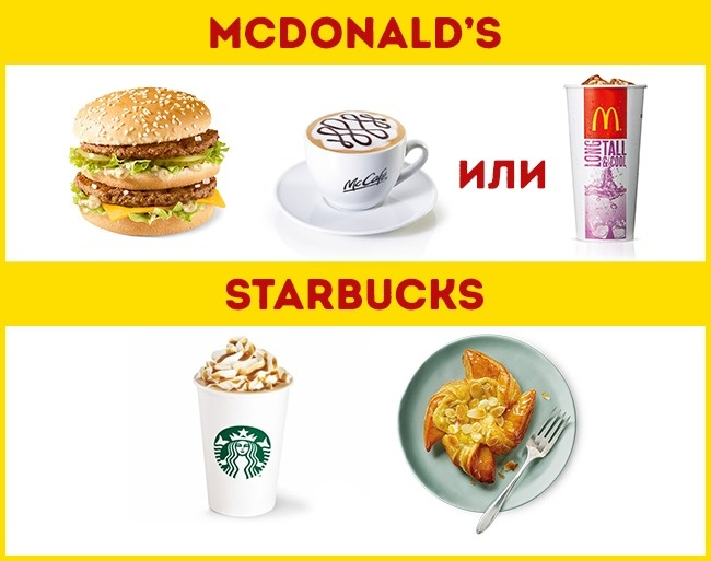 © McDonalds Schweiz   © Starbucks Switzerland      McDonalds и Starbucks в Швейцарии