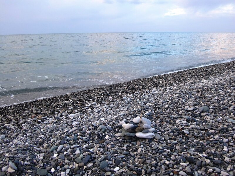 У моря Чёрного, в Абхазии, время зимнее, Новогоднее (6).JPG