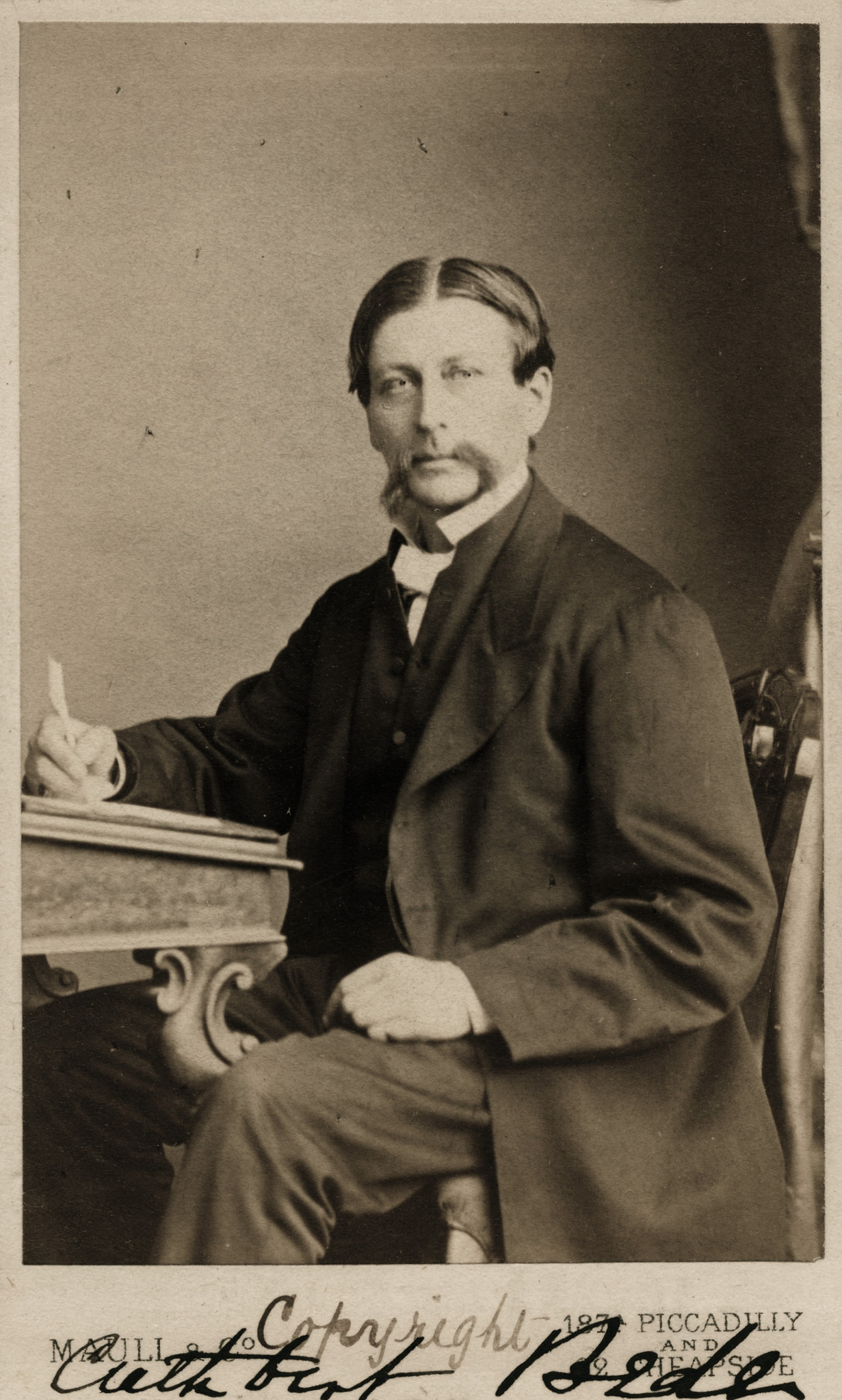 1870. Преподобный Эдвард Брэдли (1827-1889), он же Катберт Беде, писатель-романист, карикатурист, иллюстратор и сатирик