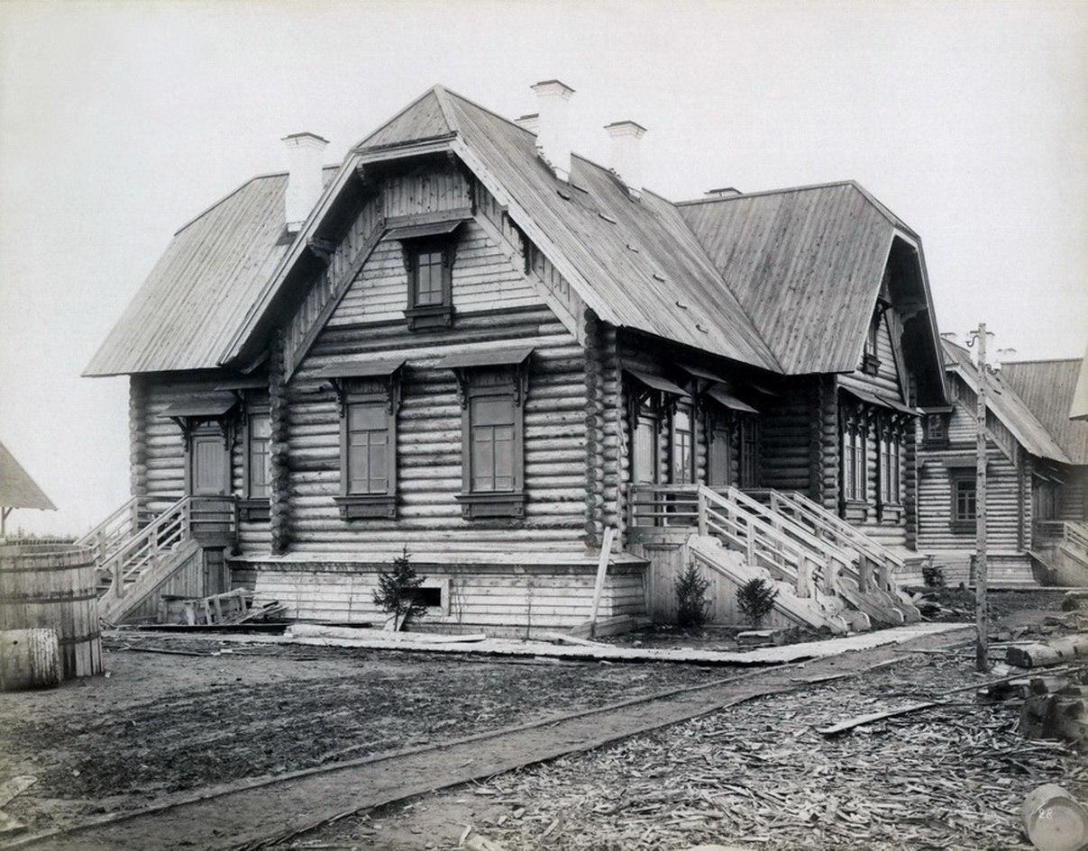 Станция Исакогорка, 586 верста, жилой дом дом для агентов службы движения. 1894 - 1897
