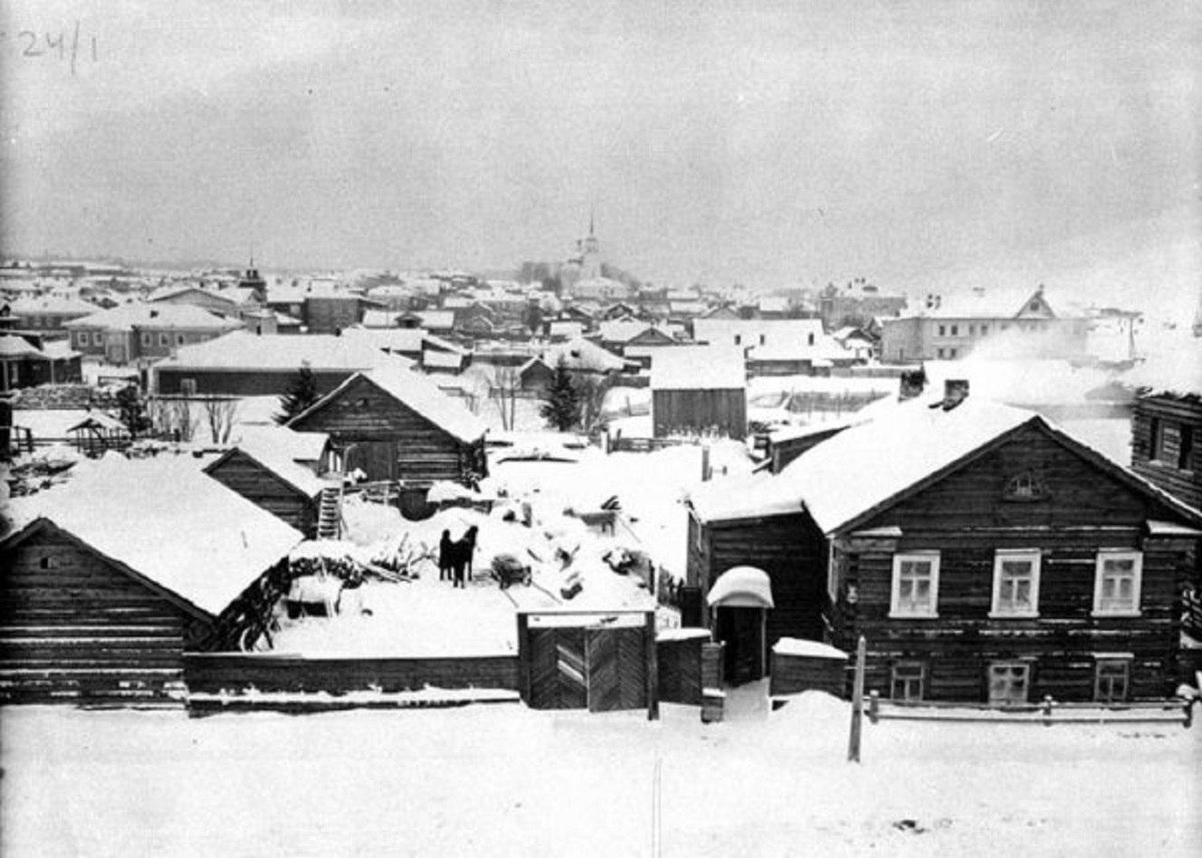 Зимний вид города