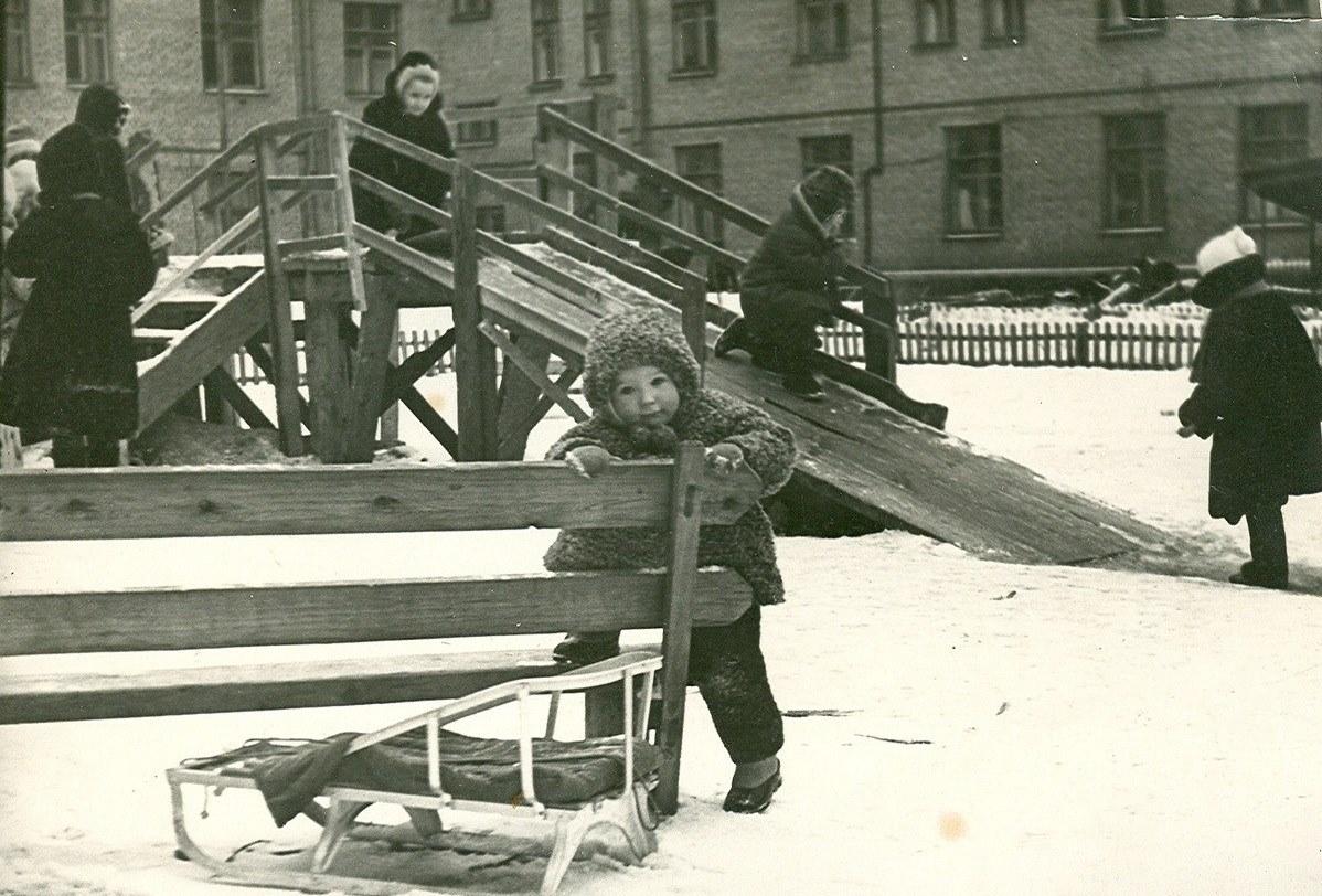 Дети зимой советские фото