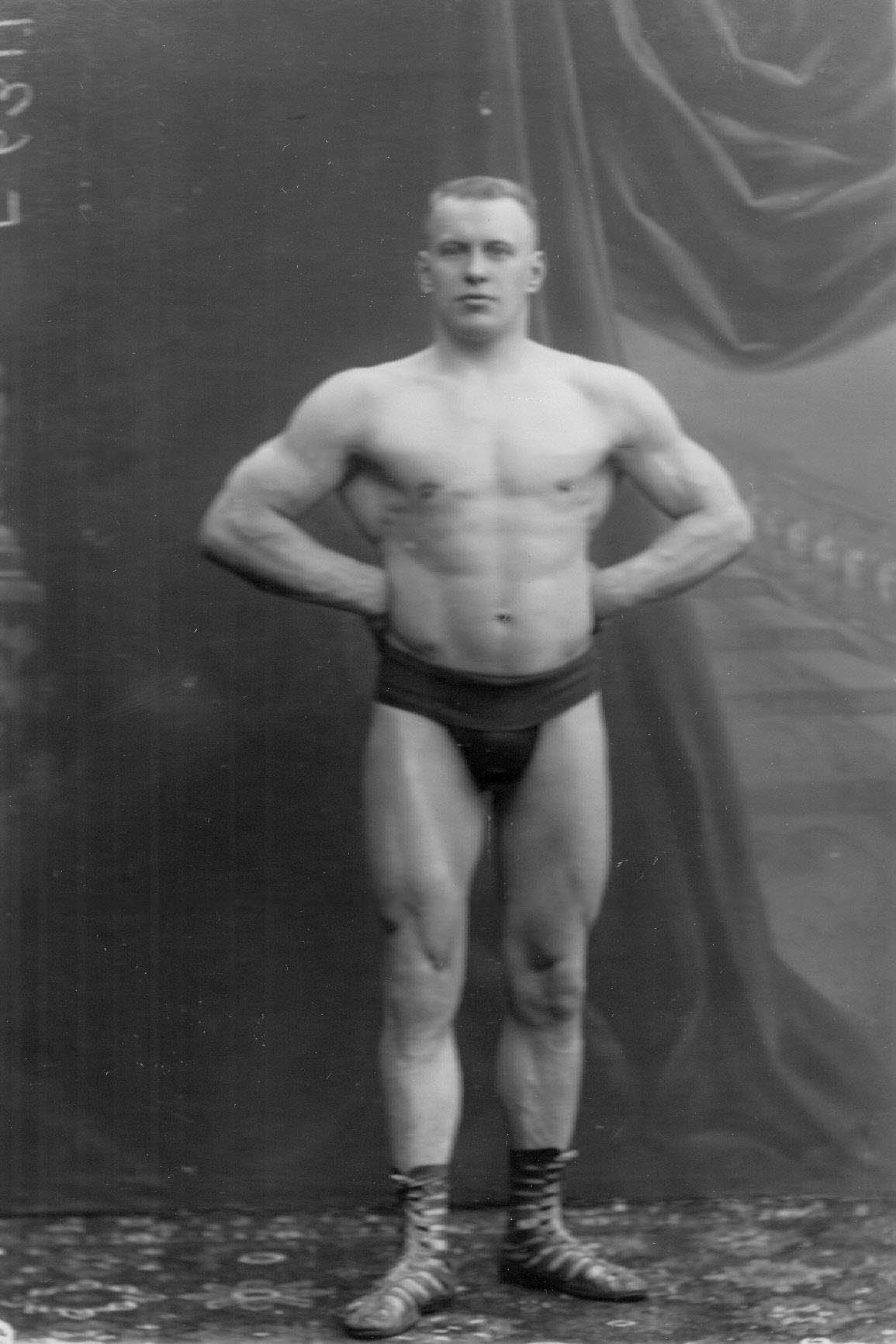 Портрет Г.Луриха, чемпиона мира по классической борьбе, участника чемпионата