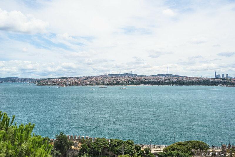 Дворец Топкапы в Стамбуле. Четвертый двор. Вид на Босфор.