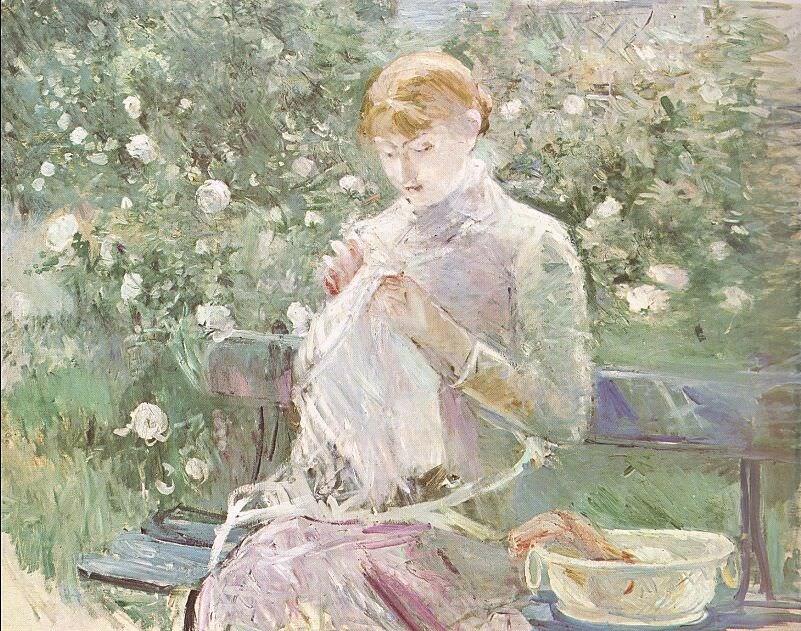 Берта Моризо: За шитьем, 1881