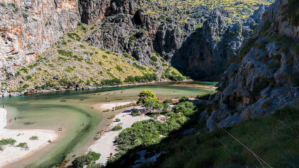 В каньоне Torrent de Pareis