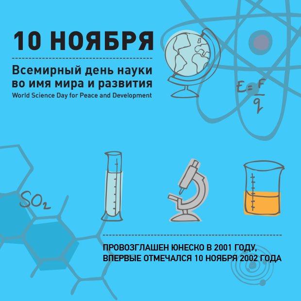 10 ноября. Всемирный день науки. Провозглашен в 2001 г