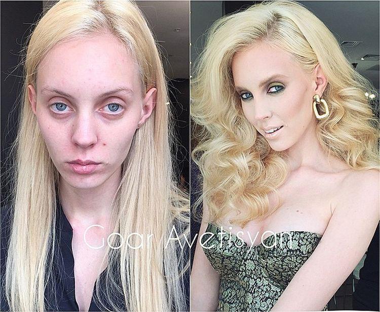 Ужасающая реальность: Девушки до и после макияжа (27 фото)