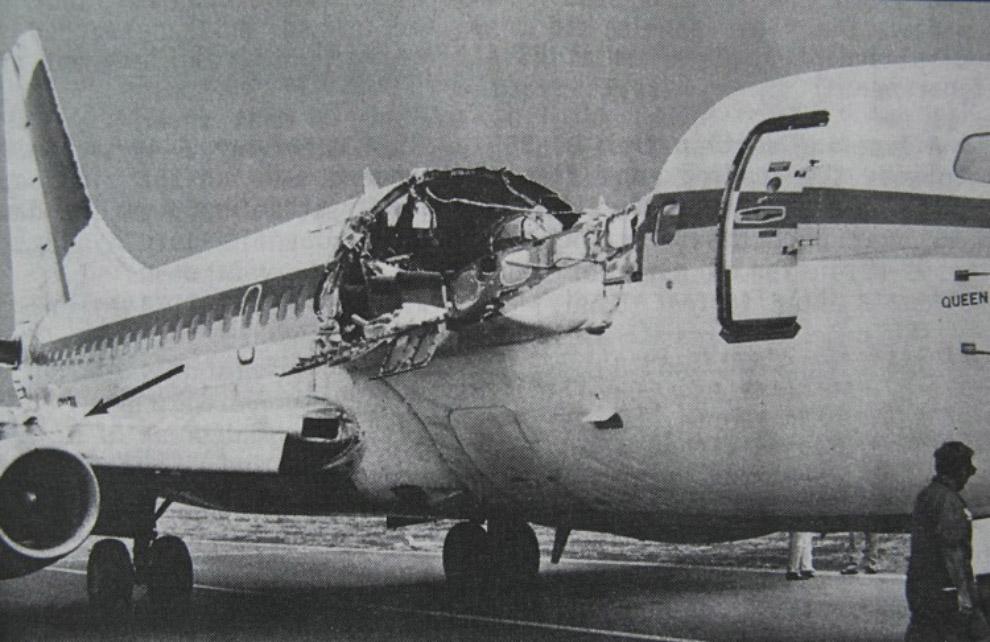 Выжило 94 человека из 95. Погибла старшая стюардесса Кларабелль Лэнсинг — в момент срыва части фюзел