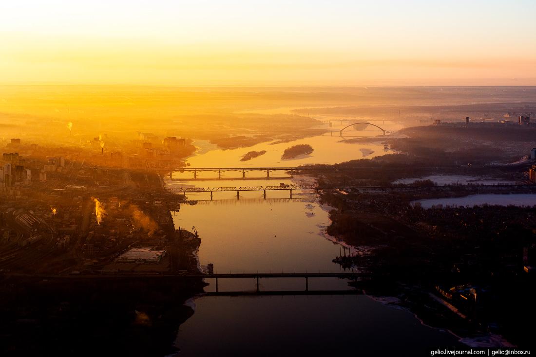Новосибирск. Фотографии из окна самолета