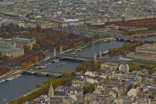 The Alexander III Bridge and the Place de la Concorde, Paris