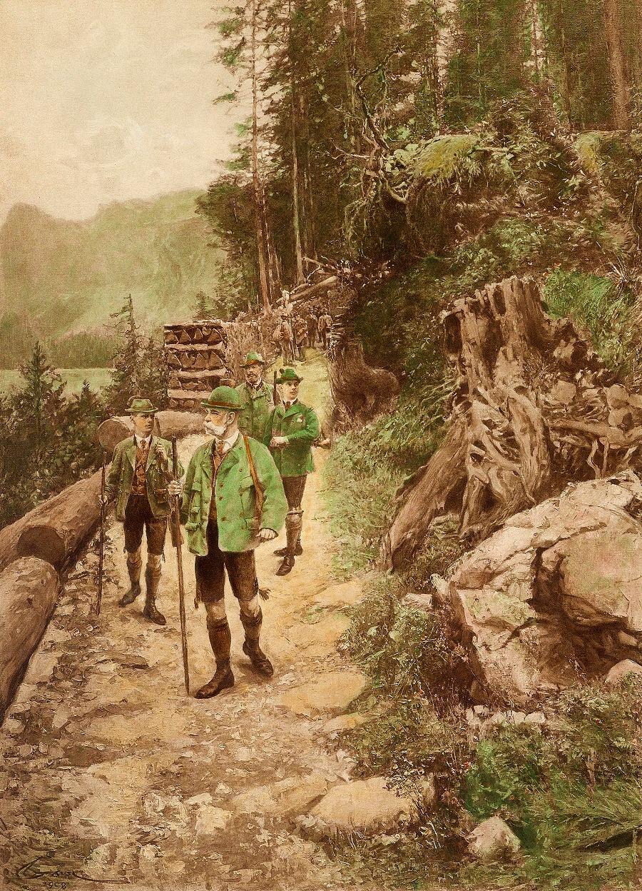 Wilhelm Gause Kaiser Franz Joseph auf der Jagd.