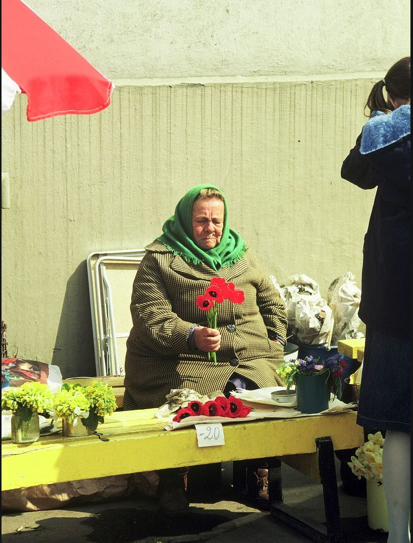 Торговка цветами