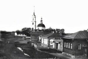 Окрестности Богородского. Село Хвощевка. Вид на церковь Рождества Христова