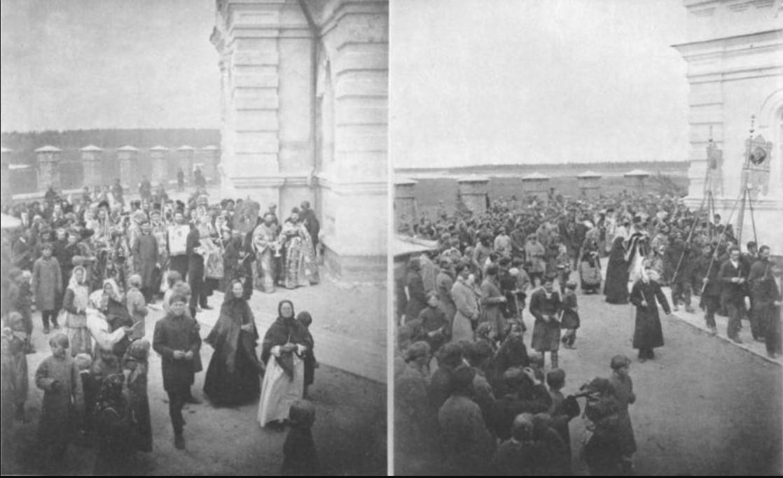 Крестный ход 27 (слева) и 28 (справа) июня 1891
