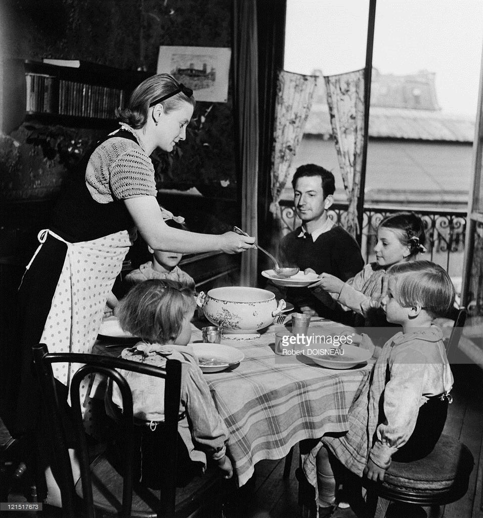 1950. Париж, семейная жизнь,