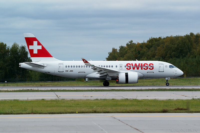 Bombardier CSeries CS100 (HB-JBE) Swiss 0042_D805488