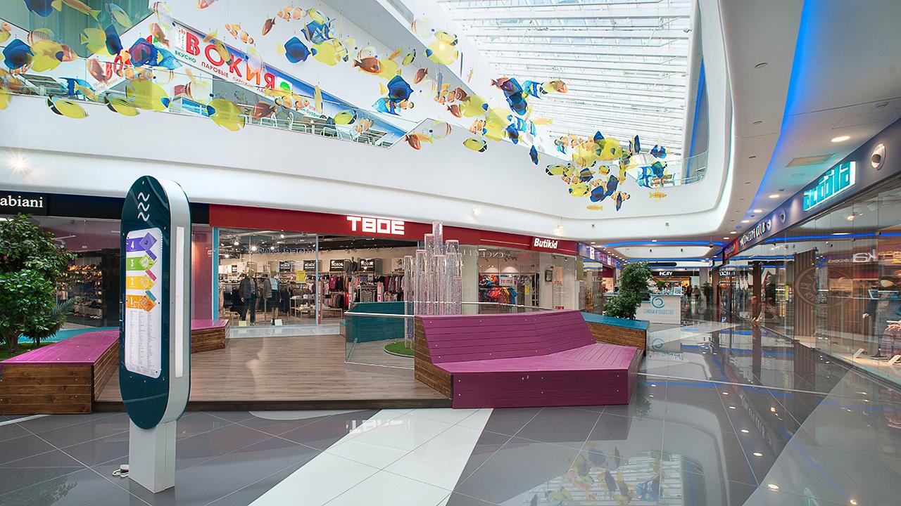 Торговые центры. Интерьерная фотосъемка для рекламы