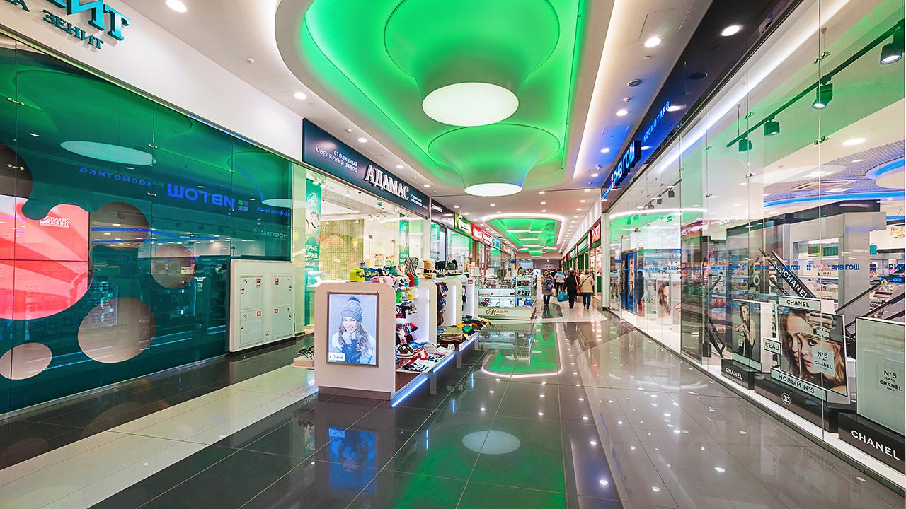 рекламные фотографии интерьеров Торговых Центров