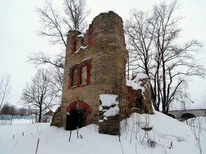 Башня Корфа после ее разрушения, 2017 г