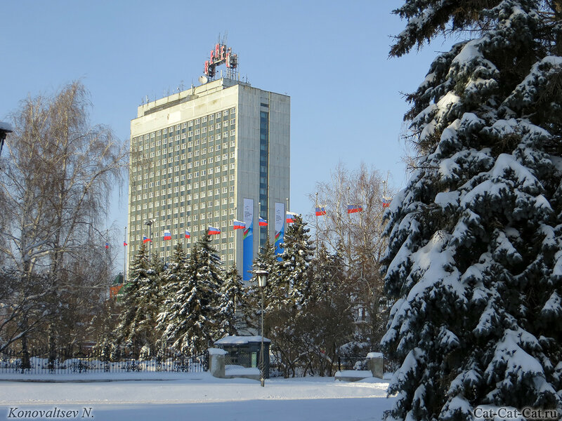 Гостиница Венец, Ульяновск, зима 2018