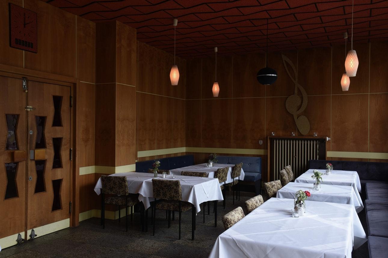 «Функхауз Берлин» сейчас на реконструкции, но некоторые его помещения открыты для посетителе