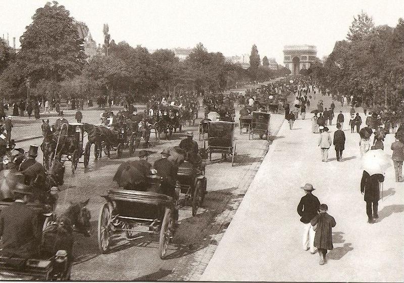 24. Авеню дю Буа в 1900-е годы. Авеню дю Буа, созданная Наполеоном, позволяла соединить ось Елисейск