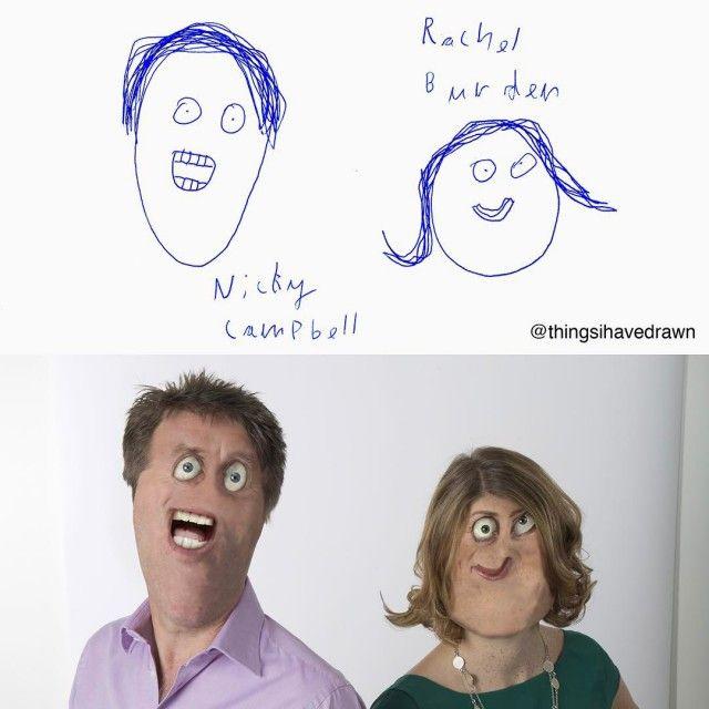 Отец претворяет в жизнь рисунки своих детей